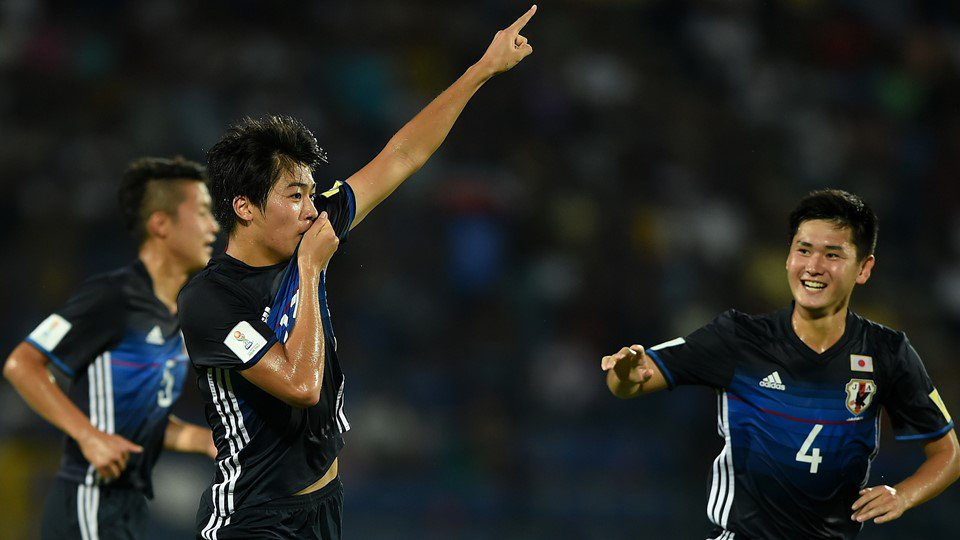 Keito Nakamura of Japan is the second highest goal scorer at the FIFA U-17 World Cup