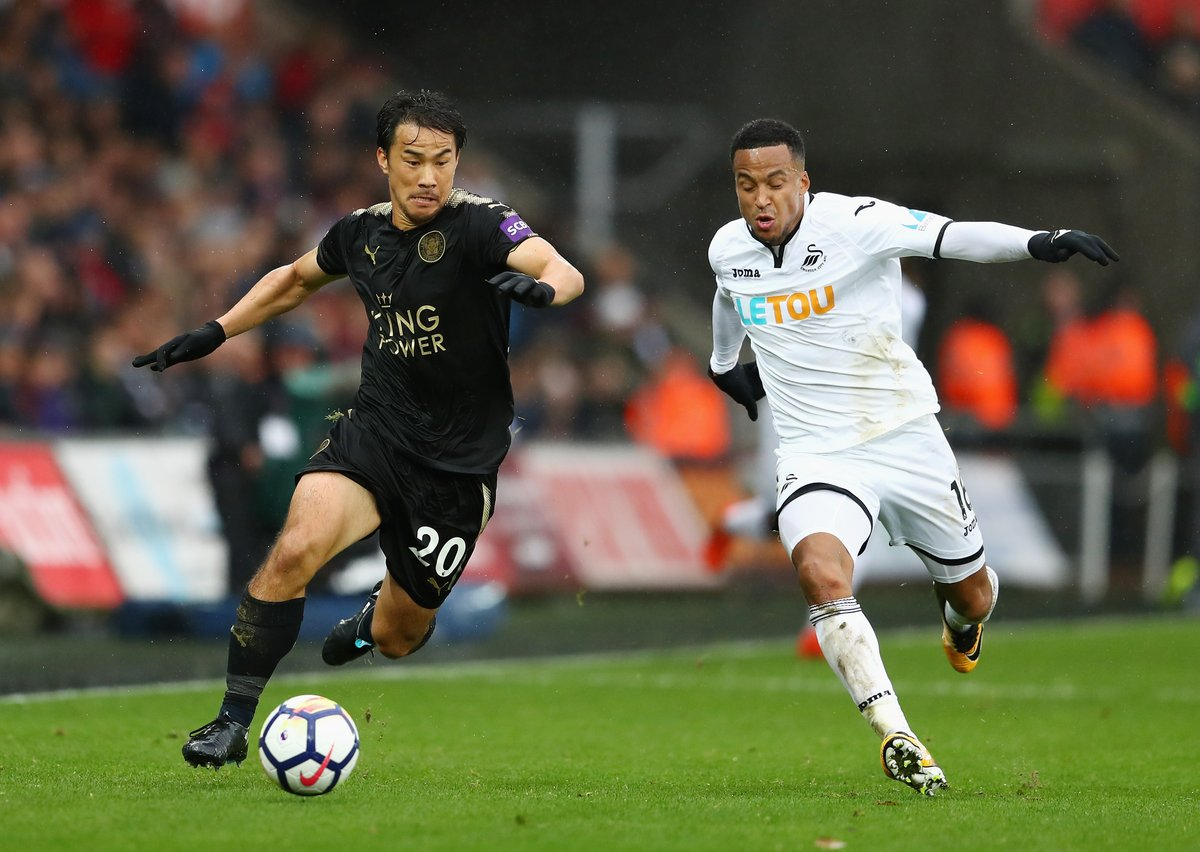 Swansea City 0-2 Leicester City (Shinji Okazaki