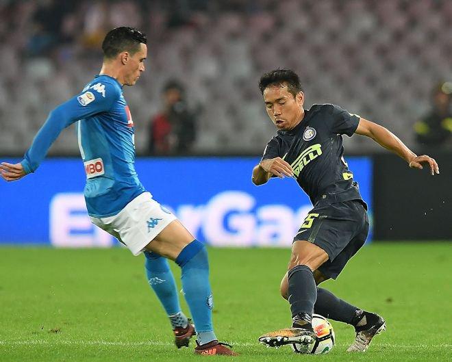 Nagatomo salta Reina e gli azzurri sotto la curva nel post-partita gli scatti di Napoli_Inter