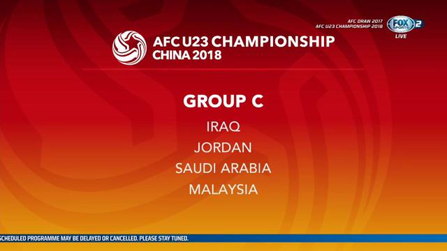 AFC Championship U23 2018 group c draw results