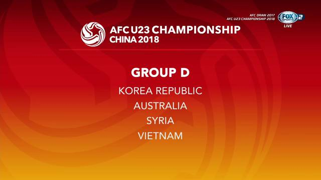 AFC Championship U23 2018 group d draw results
