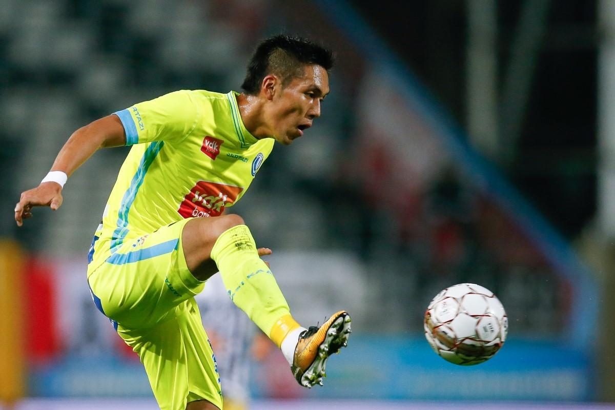 kubo yuya goal agaisnt Charleroi 2017