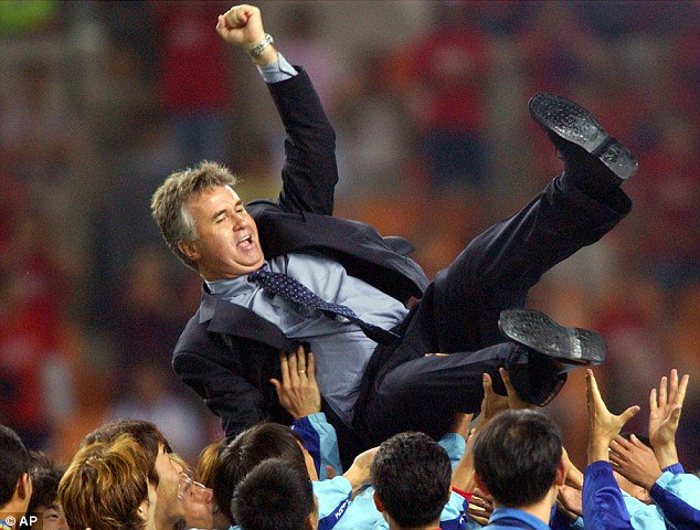 Hiddink is still a hero in South Korea