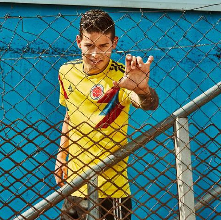 Colombias new World Cup kit 2018