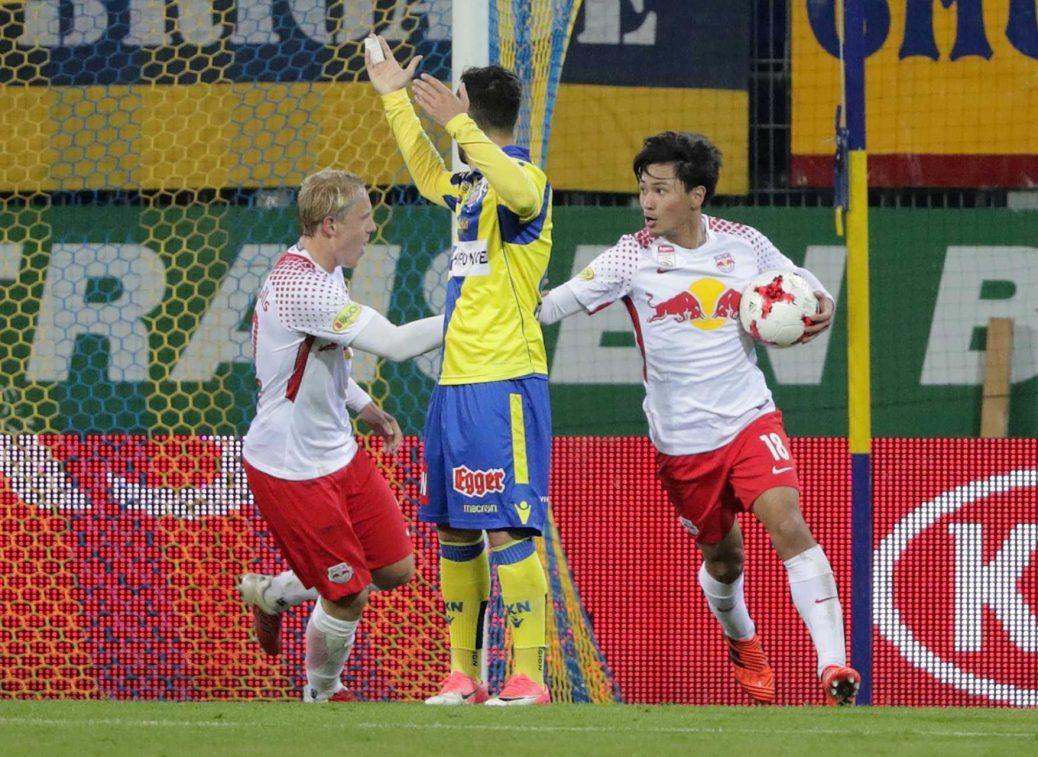 minamino goals in St Pölten nach Rückstand