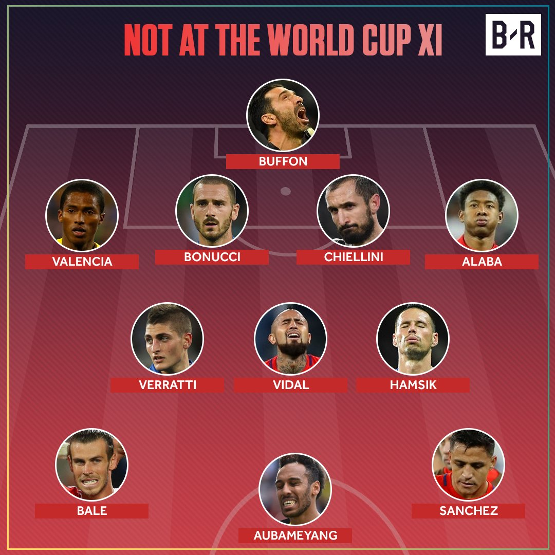 You can make an incredible team from the players who won't be at the 2018 World Cup