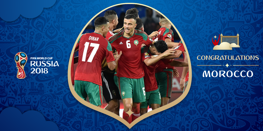 Congratulations, Morocco back to the #WorldCup for the first time since 1998