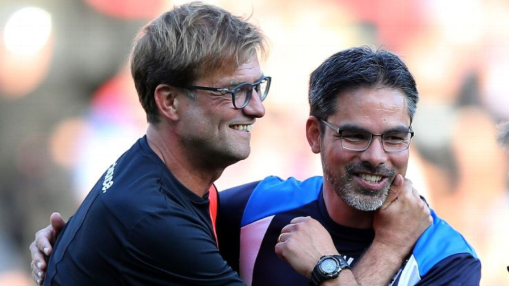 Jurgen Klopp and David Wagner are friends and former Borussia Dortmund colleagues