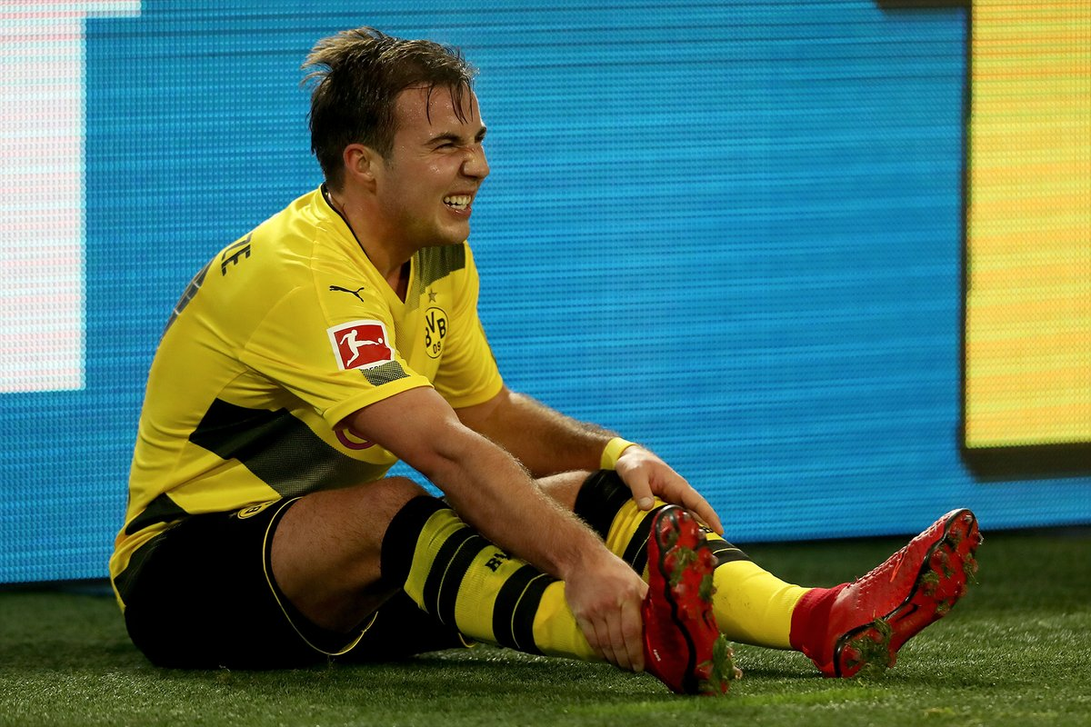 Borussia Dortmund confirm that Mario Götze is ruled out for six weeks with ankle ligament damage