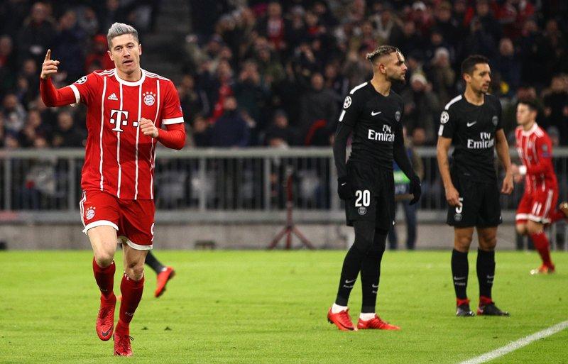 Bayern 3-1 PSG Lewandowski goal