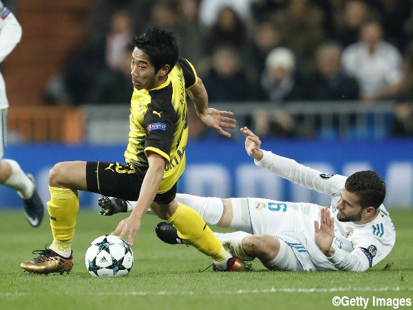 Real Madrid 3-2 DortmundPost kagawa back heel pass