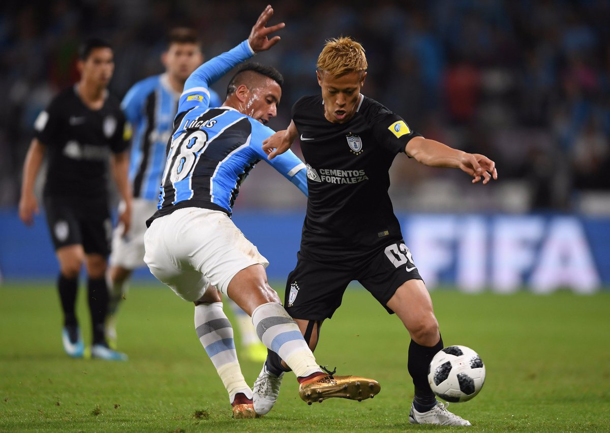Grêmio vs Pachuca [Club World Cup] honda keisuke