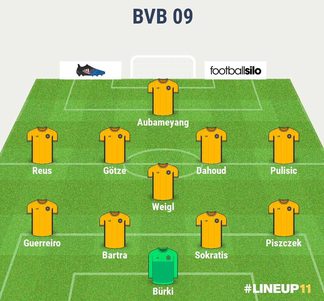dortmund 2017 18 no injury eleven