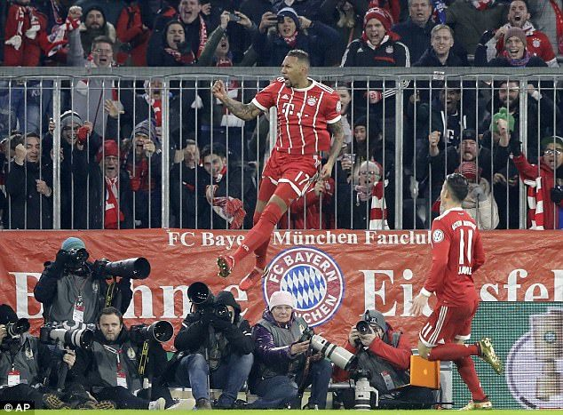 Boateng scored the first in Bayern Munichs 2-1 win over Borussia Dortmund