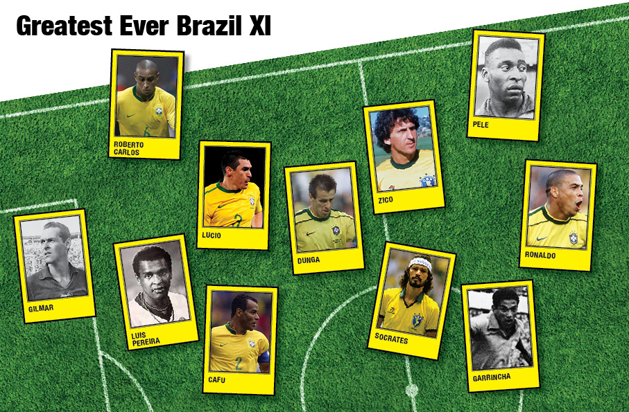 Brazil Greatest All-Time XI