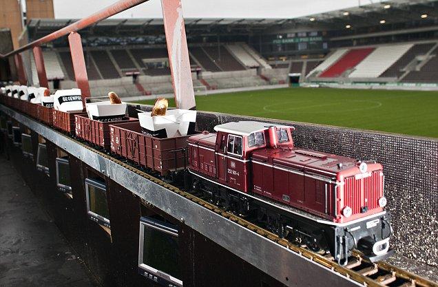 St Pauli famous sausage train