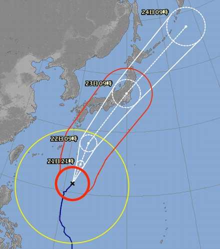 台風21号10-21