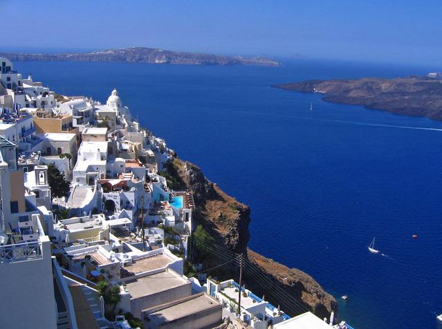 ギリシャ ティラ 海岸
