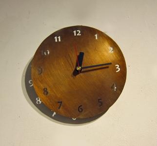 真鍮丸時計