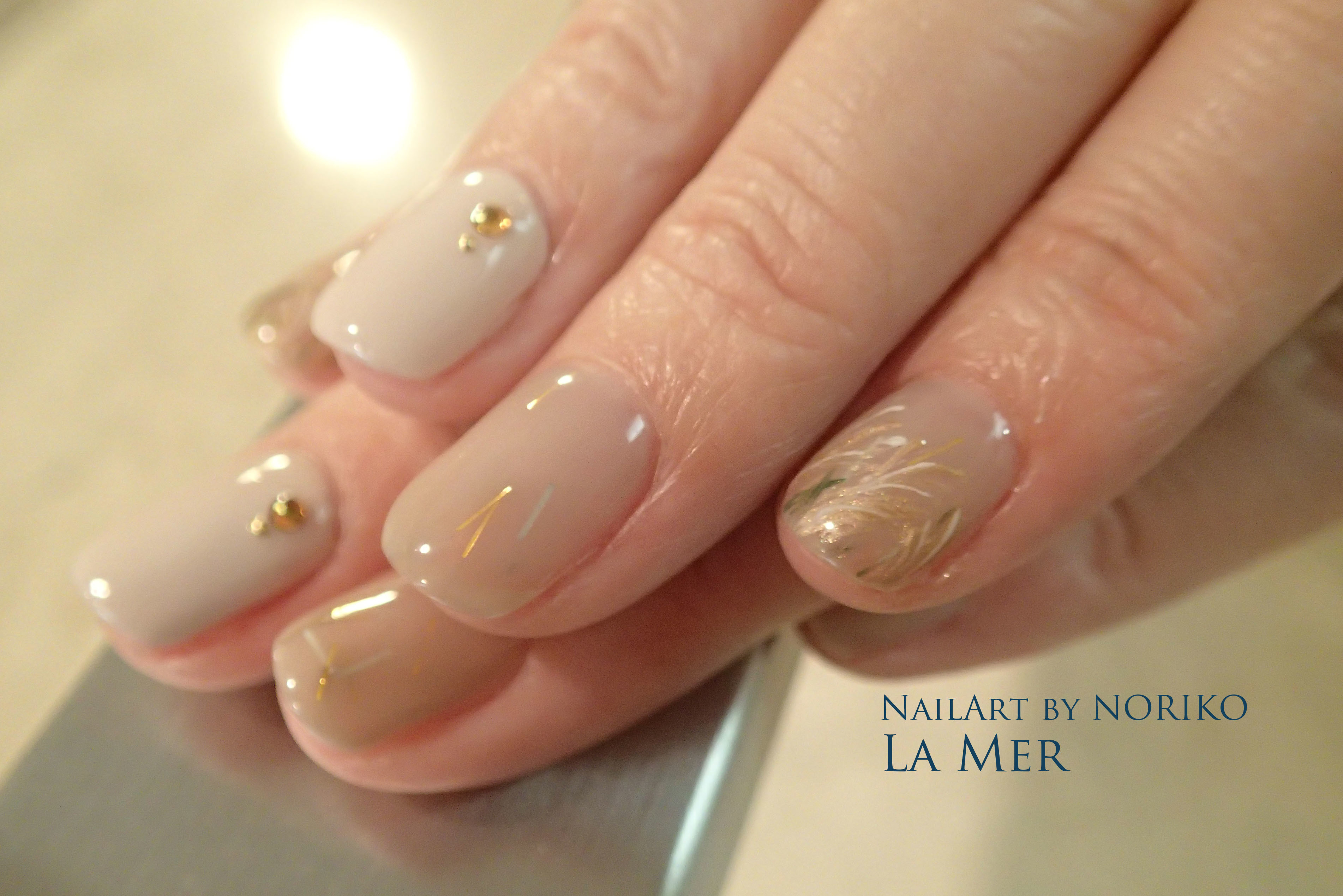 Nail Artist : NORIKO/ 典子 中秋の名月ネイル_3