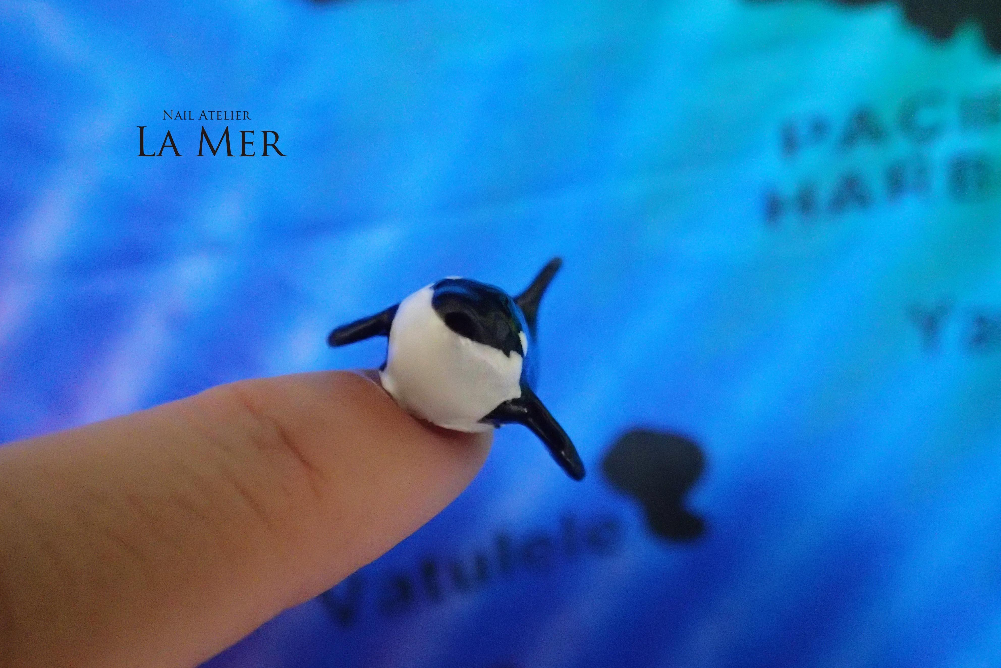 Nail Artist NORIKO killer whale_13