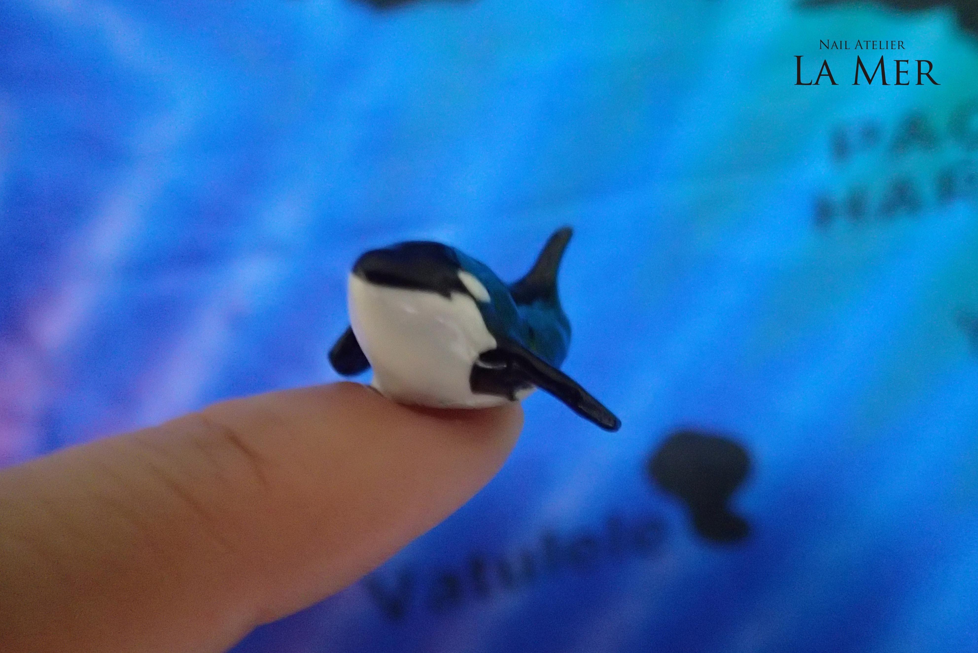 Nail Artist NORIKO killer whale_14