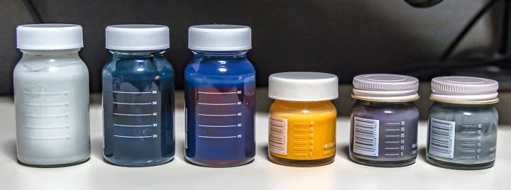 調色済み塗料瓶