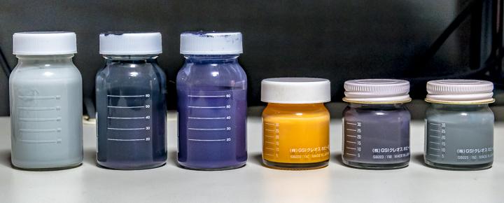 調色済み塗料瓶リテイク