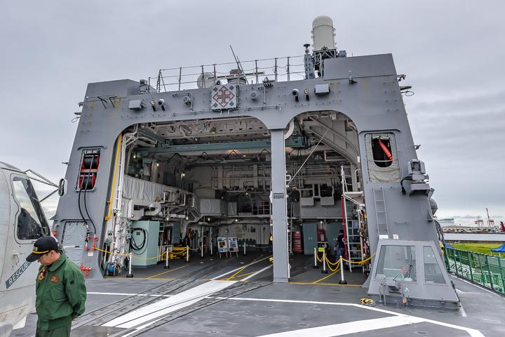 たかなみ型護衛艦 DD110 たかなみ 航空機格納庫 ヘリ格納庫