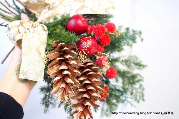クリスマス ドライスワッグ「スワッグ ド ルージュ」