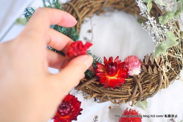 クリスマス・お正月2WAY手作りリースキット「プティレッド」