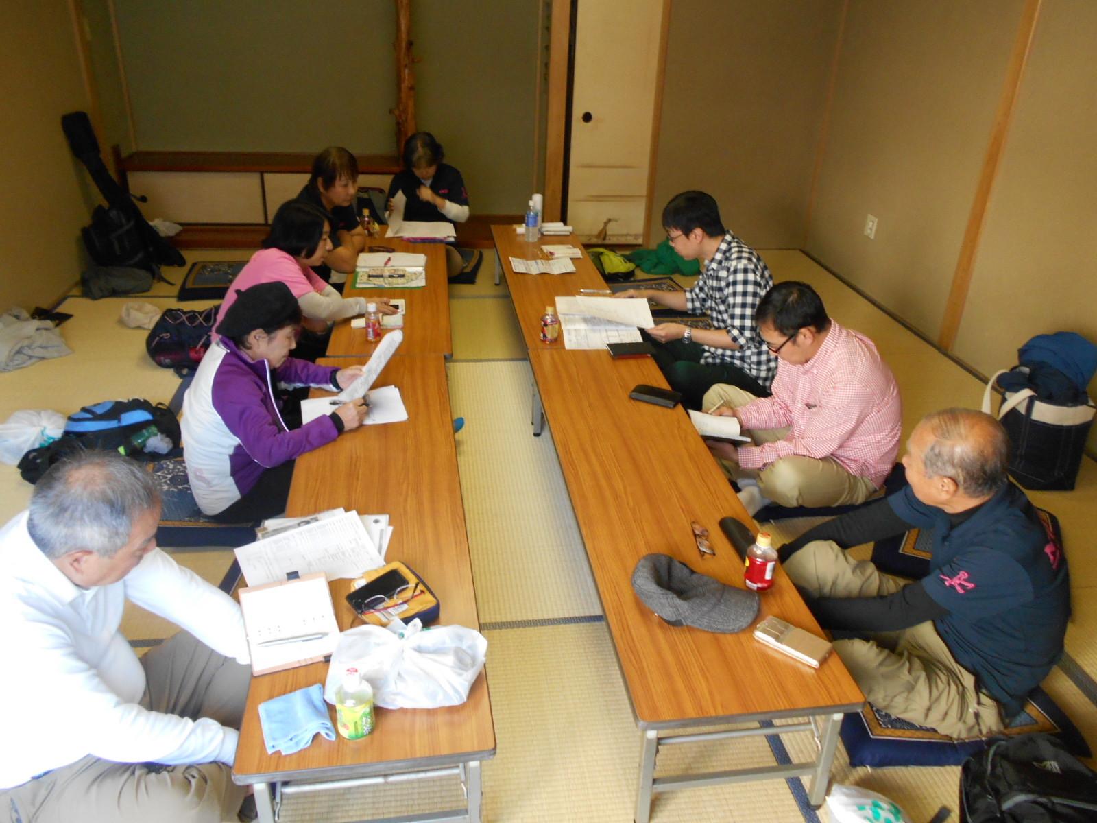 江東区スポーツ会館でのチャリティ準備会