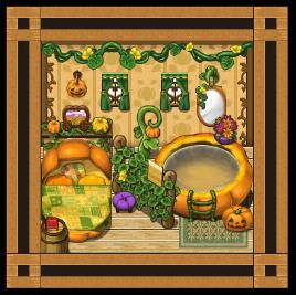 湿気の多いかぼちゃハウス