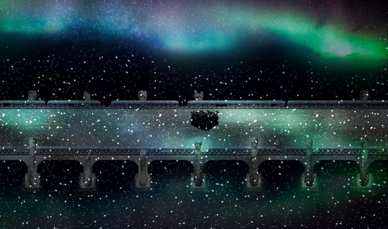 オーロラの橋_廃墟