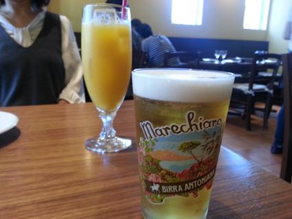 ビールオレンジジュース