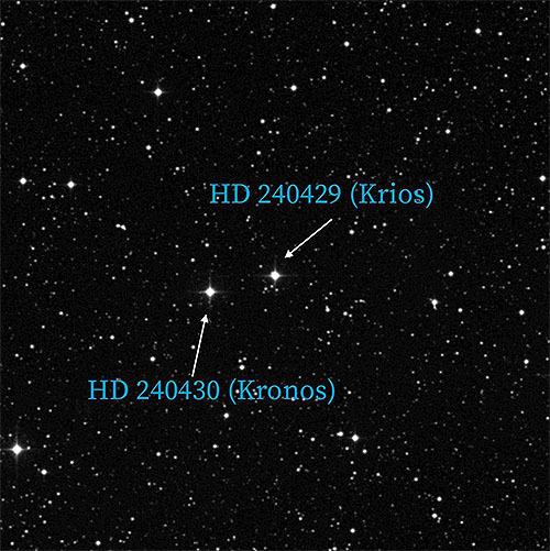 岩石惑星を飲み込んだ恒星クロノ