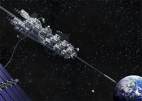 2030年宇宙建築の夢 内閣府がビジョン、大林組の宇宙エレベーターなど