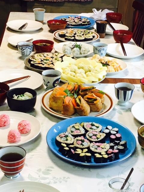 料理学習会マクロビ巻き寿司1