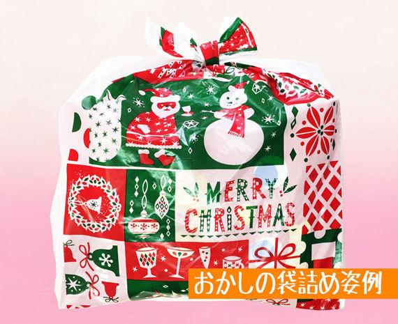 季節限定クリスマス柄袋詰め姿