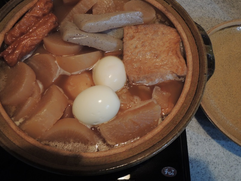 土鍋で温めます