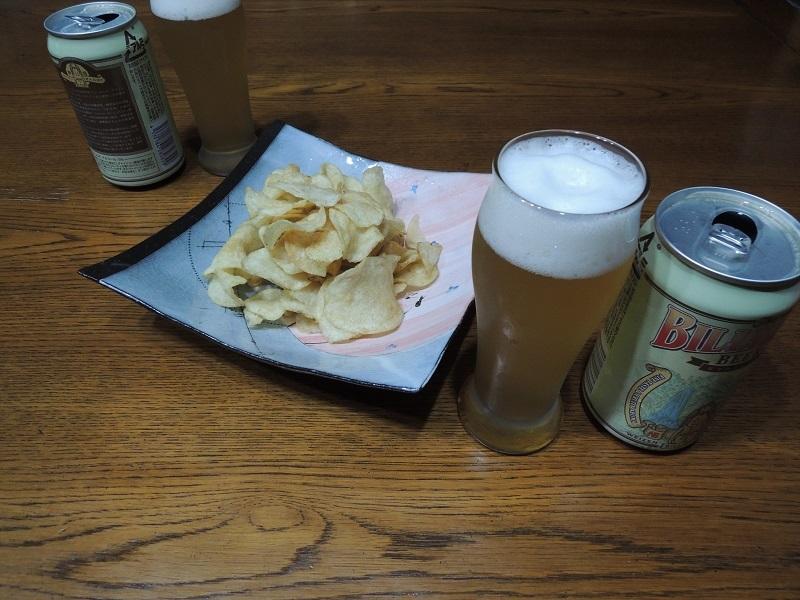 わーい 楽しみですね ポテチとビール
