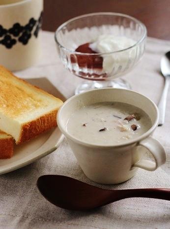 おろし蓮根ときのこのスープ