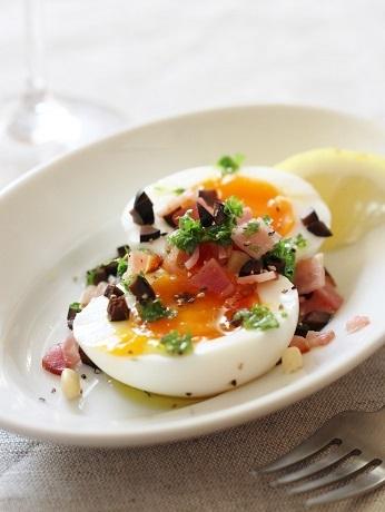 半熟卵ベーコンオリーブ3