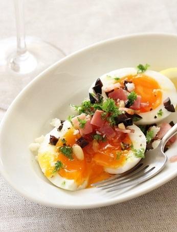 半熟卵ベーコンオリーブ2