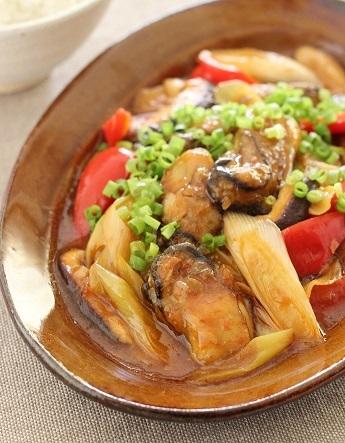 牡蠣のピリ辛炒め