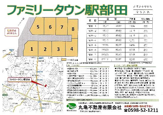 ファミリータウン駅部田 価格表550(H29年11月20日)