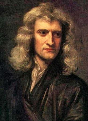 アイザック・ニュートン(1689年 ゴドフリー・ネラー画)