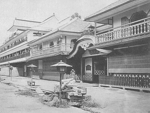 明治5年(1872年)頃の東京の吉原遊郭