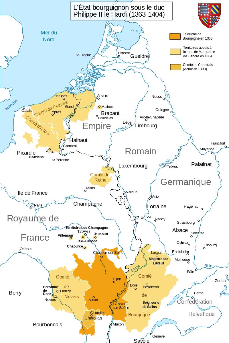 フィリップ2世の領地