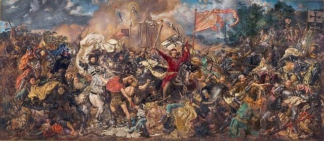 『グルンヴァルトの戦い』ヤン・マテイコ画
